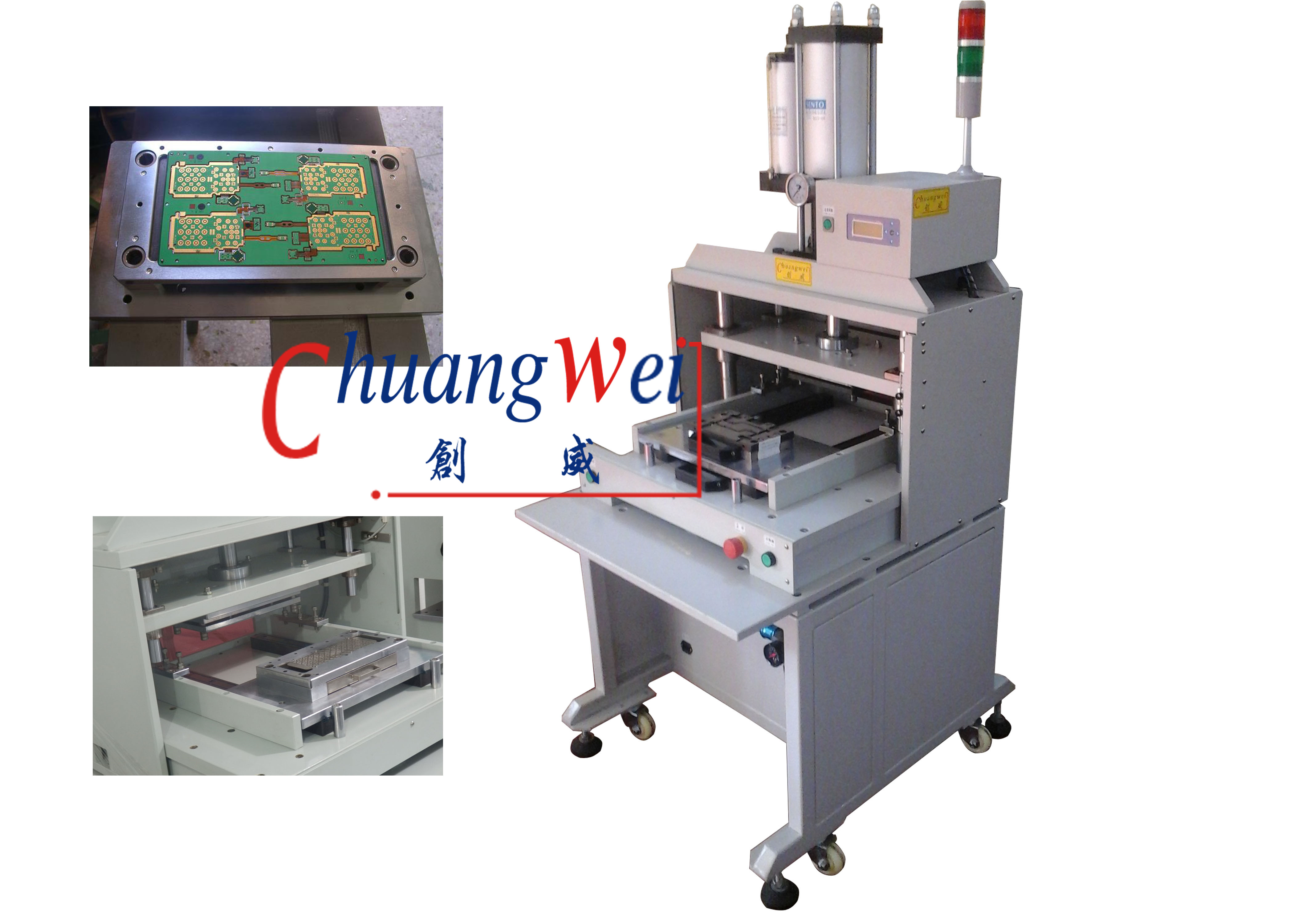 Pcb Punching Machine China Automatic V Cut Singulation For Printed Circuit High Speed Punch Machinecwpe